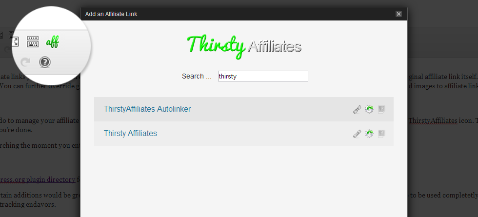 ThirstyAffiliates Review - Embedding the Links in Your Post