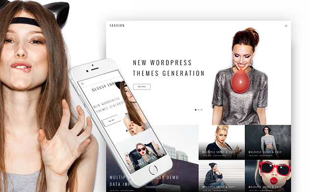 Glossy Look - Fashion WordPress Theme
