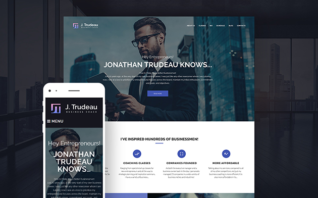 J.Trudeau - Business Courses WordPress Theme