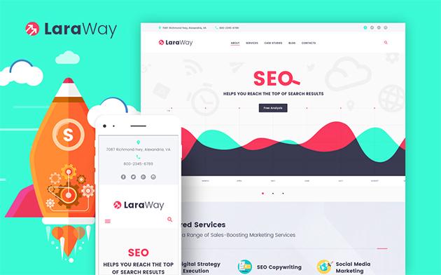 Laraway - SEO & Digital Marketing Agency WordPress Theme