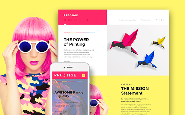 Presstige - Digital Printing Responsive WordPress Theme