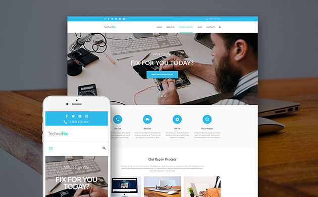 TechnoFix - Tech Repair Company WordPress Theme